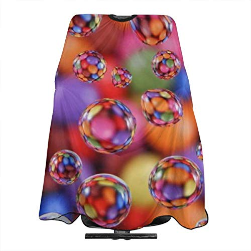 Professional Salon Hair Cut Cape,Apron with Adjustable Snap Closure,Hairdressers and Barbers Colorful Water Drops,Easy Clean,Lightweight -