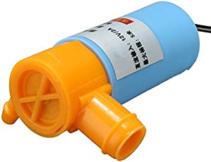 Rishil World 12V 2A Mini Submersible Pump for Water Drilling/Cutting Machines