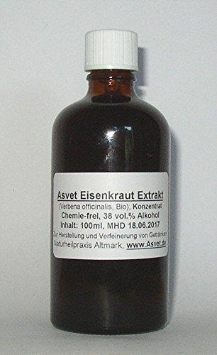 100ml Asvet Eisenkraut Tropfen, Tinktur, Verbena officinalis Extrakt, Konzentrat