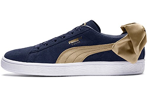 PUMA Damen Sneakers Suede Bow Varsity schwarz 38.5