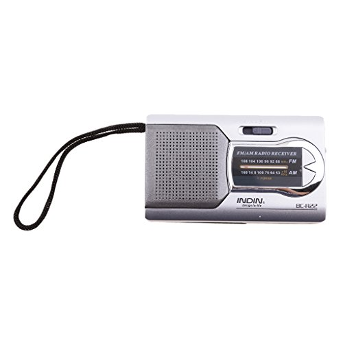 MagiDeal Pocket Portable Mini AM/FM Radio Speaker World Receiver Telescopic Antenna