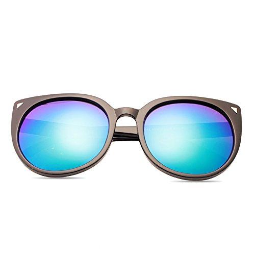 sonnenbrille, meine damen, neue, elegante, personalisierte sonnenbrille, weibliche titel, star - brille, rundes gesicht, koreanische retro - augen,transparentes blau (schicken stoff)