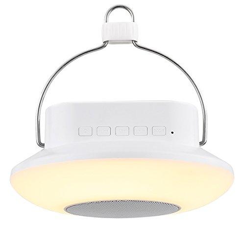 LE Bluetooth Lautsprecher Lampe, LED RGB Camping Laterne, Touch Control Stimmungslicht Nachtlampe, USB Campinglampe Deckenleuchte mit Bluetooth Lautsprecher Bluetooth Lampe Music Player Musikspieler