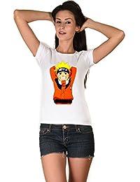 LetsFlaunt Naruto The stylish White Girls Dry fit