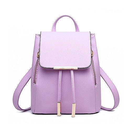 Schöne Kleine Mädchen (frau searcfhall pu leder rucksack, tasche umhängetasche handtasche rucksack rucksack kleine reisetasche lila)