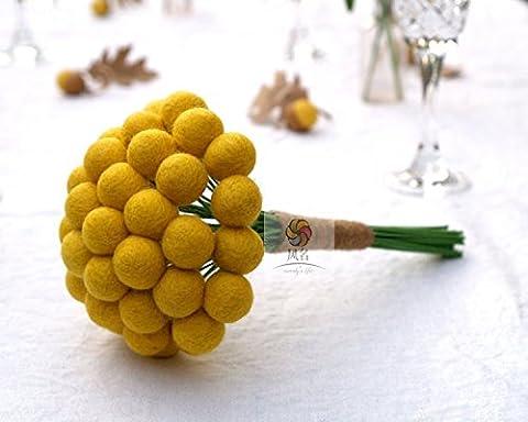 Yxhflo Emulation Blume Blumen Hochzeit Kunst Brautsträuße Hand Fühlte Sich Ball Bonbonfarbenen Süße System