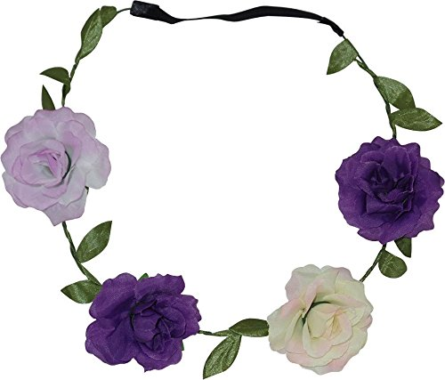 Rose Garland Head Wrap pour les mariages, Festivals, Parties (2 Fourni)