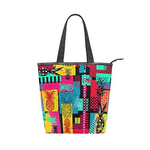 Jeansame Canvas-Handtasche für Damen, Shopper, Tragegriff, Schultertaschen mit Reißverschluss,...