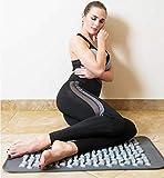 xiaojing Stuoia di Massaggio del Ciottolo della Stuoia di Yoga di Agopressione per Sollievo dal Corpo del Piede di Dolore di Sforzo