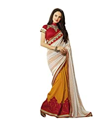 Aarti Latest Fashionable Party Wear Fancy Saree Bridal Embroidery Saree Wedding Wear Free Size