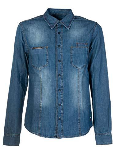 Philipp Plein Luxury Fashion Herren MDP0058PDE001N08 Blau Hemd | Frühling Sommer 19