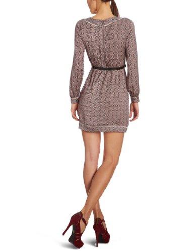 Pepe Jeans Damen Kleid (knielang) PL951036 - Scooter Hemdblusen Kleid, Rundhals, geblümt Regular Fit Mehrfarbig (Multi)