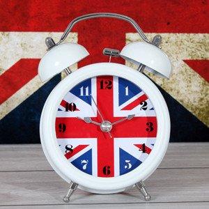 LTOOD Dekorative Elemente kreative Britische Flagge, Metall Bell, Wecker, Stummschaltung Nachtlicht Flagge, Bett, Nachttisch, überwachen, Bquiet Schlafen