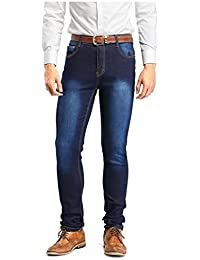 Robelli De Luxe Mélange De Coton Designer Élastique Jeans Moulant Coupe Skinny - Délavé