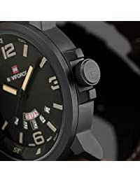Reloje Hombre,Xinan Analógico de Cuarzo Ejército del Deporte Reloj Pulsera de Cuero