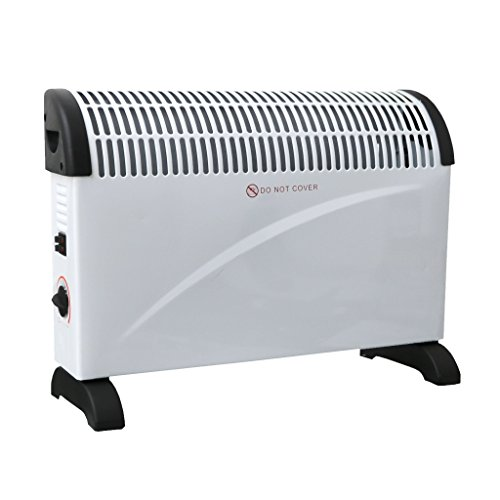 The Oypla 2KW Electrical Convector Heater can be mounted or left standing. The well-made unit offers 2kw of output to supply warm air to a sizeable room.
