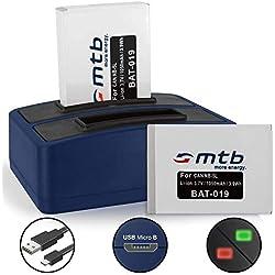 2 Batteries + Double Chargeur (USB) pour Canon NB-5L / Powershot S110 (2012), SX220 HS, SX230 HS. / IXUS 870 is, 900 Ti... - v. liste!