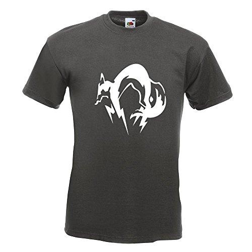KIWISTAR - Fox Hound T-Shirt in 15 verschiedenen Farben - Herren Funshirt bedruckt Design Sprüche Spruch Motive Oberteil Baumwolle Print Größe S M L XL XXL Graphit