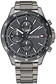Tommy Hilfiger men's Grey Dial Ionic Plated Grey Steel Watch - 179