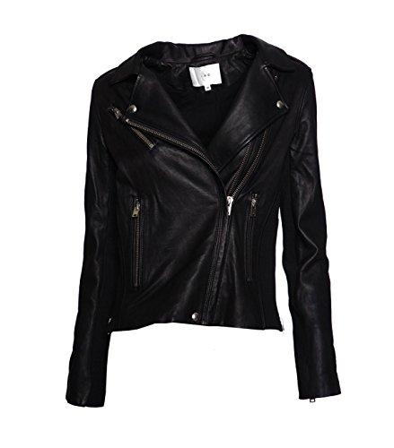 IRO Damen Lederjacke Gipsy Bikerjacke Jacke Leder - Leder - schwarz black 42