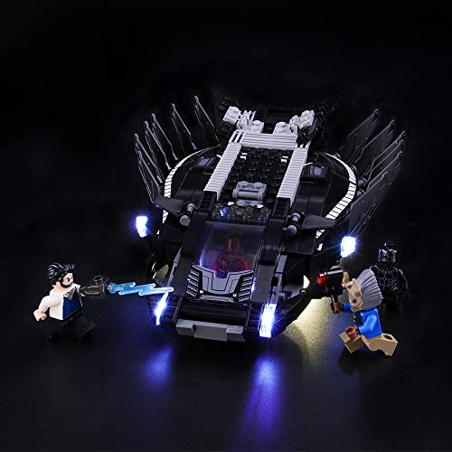 LIGHTAILING Conjunto de Luces (Super Heroes Royal Talon Fighter Attack) Modelo de Construcción de Bloques - Kit de luz LED Compatible con Lego 76100 (NO Incluido en el Modelo)