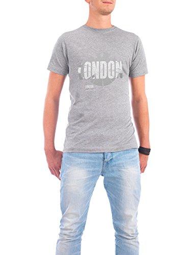 """Design T-Shirt Männer Continental Cotton """"London dark"""" - stylisches Shirt Abstrakt Städte Kartografie Reise Architektur von ShirtUrbanization Grau"""