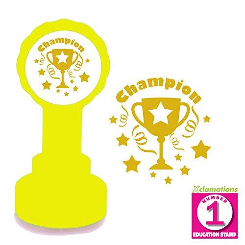 Tampon Encreur Automatique Pour Enseignant, Champion, Or Encre. Trophée du Design.