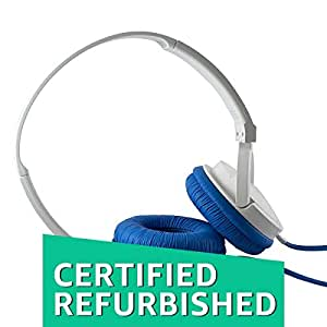 (Certified REFURBISHED) SoundMagic P10S Headphones with Mic (White/Blue)