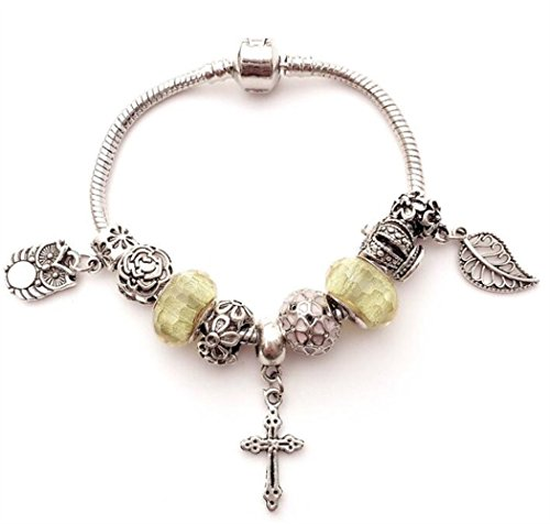 ZoraQ Craft Kits Perlen Schmuck Key Dragonfly Anhänger DIY Glasperlenarmband (grün)