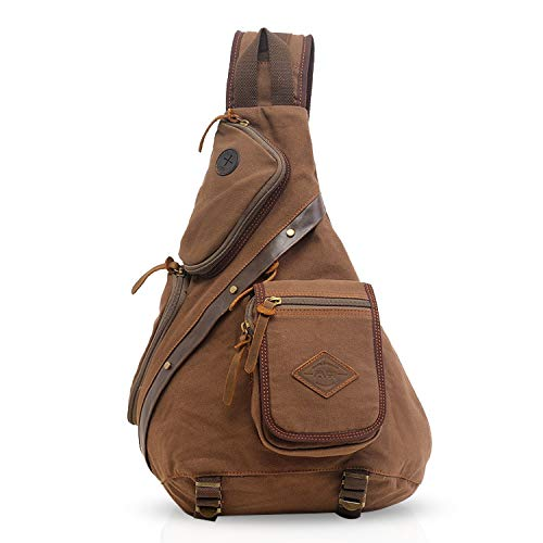 a09502567180c FANDARE Retro Outdoor Sports Rucksack Sling Bag Umhängetasche Messenger  Schultertasche Reisen Wandern Daypack Crossbag Crossbody Bag