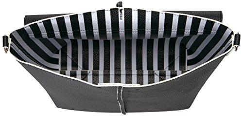 Guess HWVS6422210 Borsa a tracolla Donna Nero (Black Stripe)