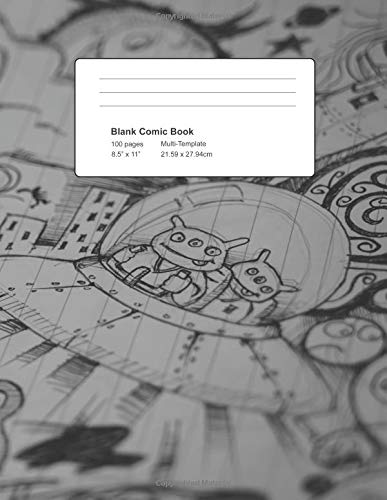 Blank Comic Book - 100 Pages Multi-Template: Draw Your Own Comic Notebook, 8.5x11in Panelbook
