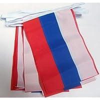 GUIRNALDA 4 metros 20 BANDERAS de RUSIA 15x10cm - BANDERA RUSA 10 x 15 cm - BANDERINES - AZ FLAG