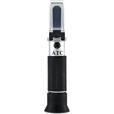 RCYAGO De Mano Refractómetro Brix de Azúcar Cerveza Escala dual 0-32% Brix y SG 1.000-1.1200 Brix Óptico Prueba ATC Refratometro Medidor Refractómetro