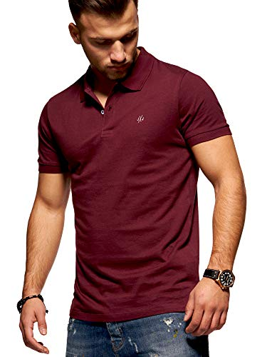 JACK & JONES Herren Poloshirt Polohemd Shirt Basic (Small, Port Royale) - Rot Baumwolle Polo-shirt