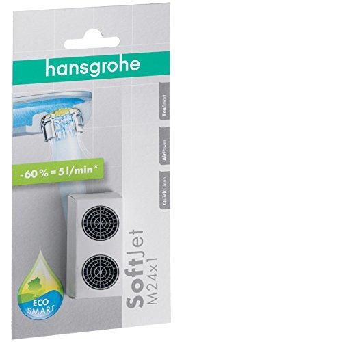 hansgrohe Ersatzteil SoftJet wassersparendes Luftsprudler Set, mit Durchflussbegrenzer 5 l/min, Mehrfarbig