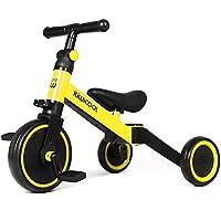 Kiwicool 3 in 1 Kids Tricycles for 1.5-4 Years Old Kids Trike 3 Wheel Bike Boys Girls 3 Wheels Toddler Tricycles (Yellow)