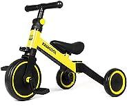 Kiwicool 3 in 1 Kids Tricycles for 1.5-3 Years Old Kids Trike 3 Wheel Bike Boys Girls 3 Wheels Toddler Tricycl