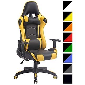 CLP Silla Racing Miracle V2 en Cuero PU I Silla Gaming Regulable en Altura I Silla Gamer con 2 Cojínes Removibles I Silla Ordenador I Color: