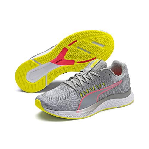 PUMA Speed SUTAMINA Wns, Zapatillas de Running para Mujer, Quarry-Yellow Alert-Pink Alert, 39 EU