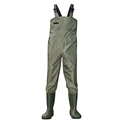 Dirt Boot® Nylon Chest Waders 100% Waterproof Fly Coarse Fishing Muck Wader Various Sizes by KOALA PRODUCTS