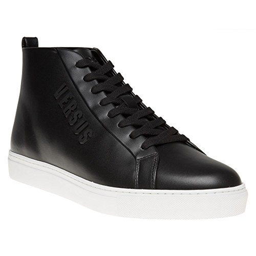 Versus Logo High Top Homme Baskets Mode Noir Noir