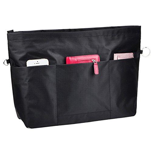 VANCORE Taschenorganizer Innentaschen für Handtaschen, Wasserdicht Nylon, Groß-Schwarz (Cole Tasche Groß Kenneth)