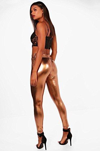 Femmes Bronze Fayth Highwaist Metallic Leggings Bronze