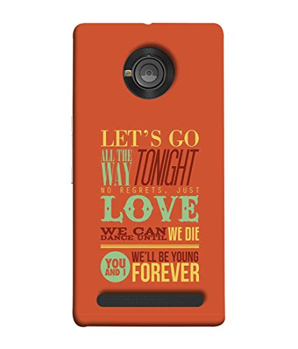 Printfidaa YU Yuphoria, YU Yuphoria YU5010 Back Cover Lets Go Tonight Love Printed Designer Back Case