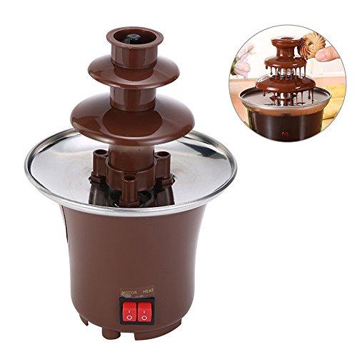 Beatie Chocolate fountain 3-tier Chocolate Fountain Machine Schokoladen-Maschine Fondue Maker Heated PC Plastic Home Party Fountain EU Plug Regard