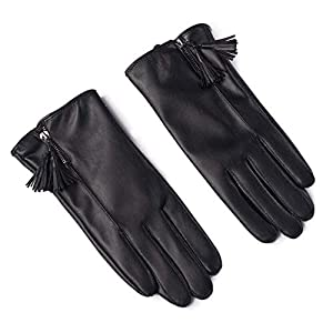 411AYaS0W8L. SS300  - Gloves Cycling Ski Running Windproof Rockclimbing Ms Autumn And Winter Plus Velvet PU Leather Keep Warm Touch Screen Windproof ZHAOYONGLI