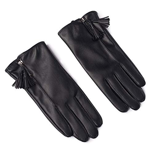 411AYaS0W8L. SS500  - Gloves Cycling Ski Running Windproof Rockclimbing Ms Autumn And Winter Plus Velvet PU Leather Keep Warm Touch Screen Windproof ZHAOYONGLI