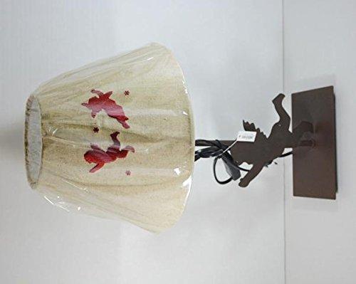 Abat-jour base in ferro con Angelo sagomato e cappello in tessuto lino ecru angeli ricamati -H.45cm- Lampada da tavolo
