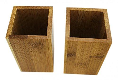 Bambus Zahnbürstenhalter – 2er Set - 4